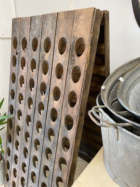 Vintage French Wooden Riddling Racks -  Double Sided